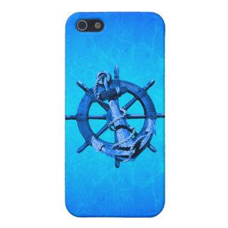 Blaue Seeschiffe Rad und Anker Schutzhülle Fürs iPhone 5