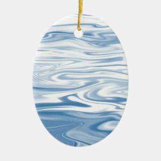 Blaue Seide Keramik Ornament