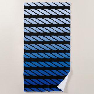 Blaue Seil-Art Stripes Dekor auf a Strandtuch