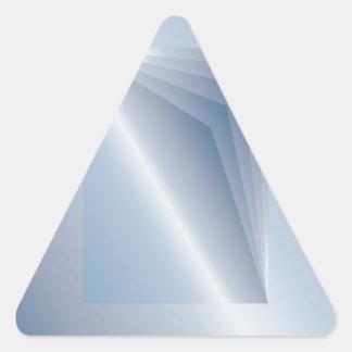 blaue Seiten Dreieckiger Aufkleber