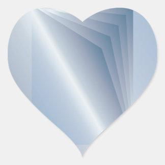 blaue Seiten Herz-Aufkleber