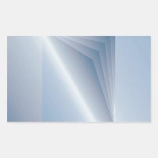 blaue Seiten Rechteckiger Aufkleber