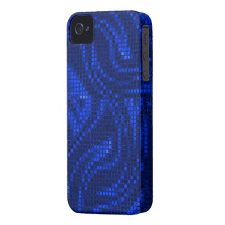 Blaue Sequin-Effekt-Telefon-Hüllen iPhone 4 Case-Mate Hülle
