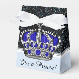 Blaue silberne Babyparty Kronprinz-Junge Geschenkkartons