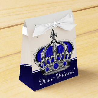 Blaue silberne Babyparty Kronprinz-Junge Geschenkschachteln