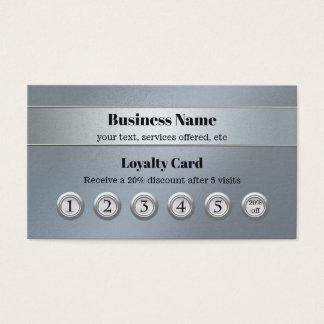 Blaue silberne Kunden-Loyalitäts-Visitenkarte Visitenkarte