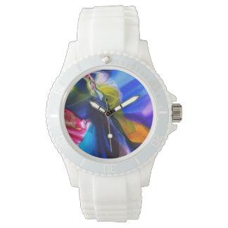 Blaue Silikon-Uhr Armbanduhr