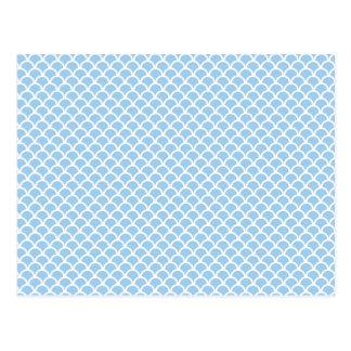 Blaue Skalen Postkarte
