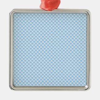 Blaue Skalen Silbernes Ornament