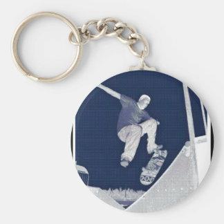 Blaue Skate Schlüsselanhänger