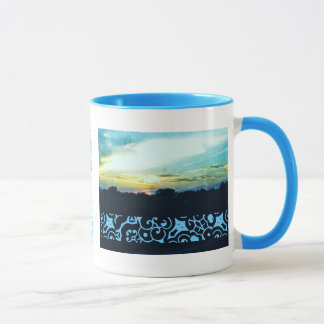 Blaue Sonnenuntergang-Art 2 Tasse