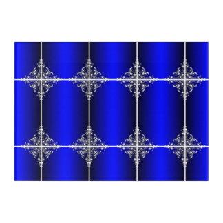 Blaue Spiegel Acryldruck