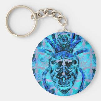 Blaue spinnenartige Tiere Schlüsselanhänger
