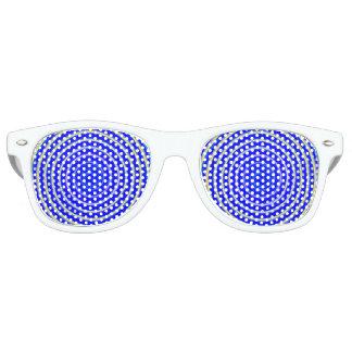 Blaue Spiralen Partybrille