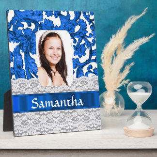 Blaue Spitze-Fotoschablone Fotoplatte