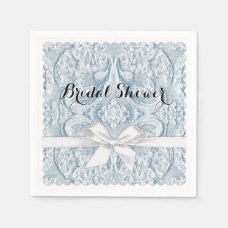 Blaue Spitze mit Band Papierservietten
