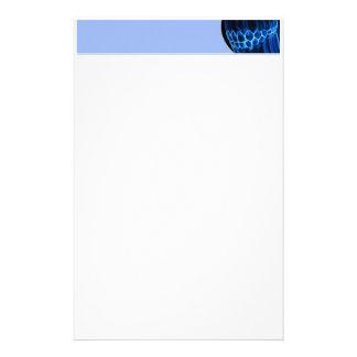Blaue Spitzenlinie Briefpapier