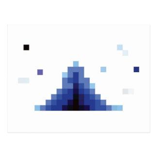 blaue sqaures postkarte