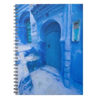 Blaue Stadt-Tür Spiral Notizblock
