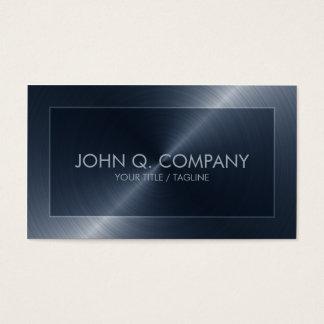 Blaue Stahlblick-Visitenkarte Visitenkarten