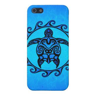 Blaue Stammes- Schildkröte Sun iPhone 5 Case
