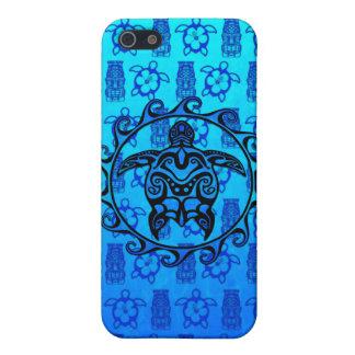 Blaue Stammes- Schildkröte Sun iPhone 5 Cover