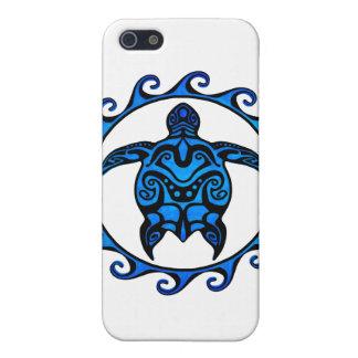 Blaue Stammes- Schildkröte Sun iPhone 5 Schutzhüllen
