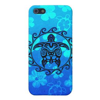 Blaue Stammes- Schildkröte Sun Schutzhülle Fürs iPhone 5