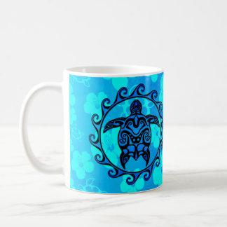 Blaue Stammes- Schildkröte Sun Tasse