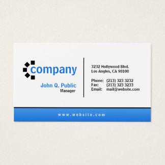 Blaue Steigungs-Unterseiten-einfaches modernes Visitenkarten