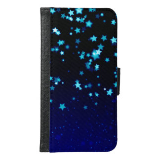 Blaue Stern-Traum - Geldbörsen-Kasten der Geldbeutel Hülle Für Das Samsung Galaxy S6
