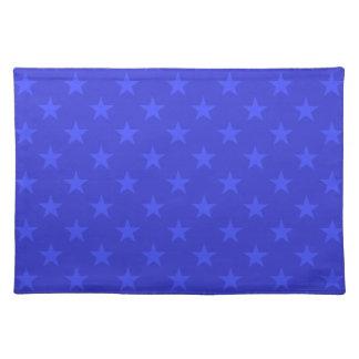 Blaue Sternchen-Vereinbarung Stofftischset