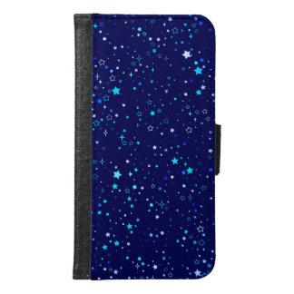 Blaue Sterne 2 Geldbeutel Hülle Für Das Samsung Galaxy S6