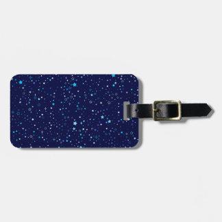 Blaue Sterne 2 Gepäckanhänger