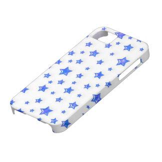 Blaue Sterne auf weißer iPhone 5 Abdeckung iPhone 5 Hülle