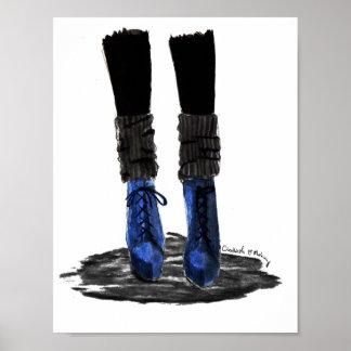 Blaue Stiefel Poster
