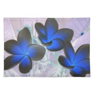 Blaue stilvolle Blume Tisch Sets