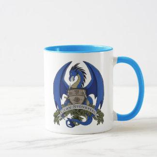 Blaue Stonefire Drache-Wappen-Tasse Tasse