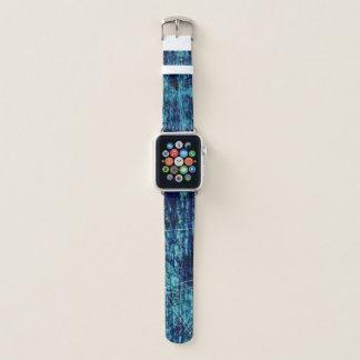 Blaue Strahlen. Abstrakt Apple Watch Armband