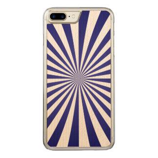 Blaue Strahlen Carved iPhone 8 Plus/7 Plus Hülle