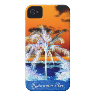 Blaue Strandpalme Hawaii iPhone 4 Cover