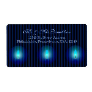 Blaue Streifen-Adresse Großer Adressaufkleber