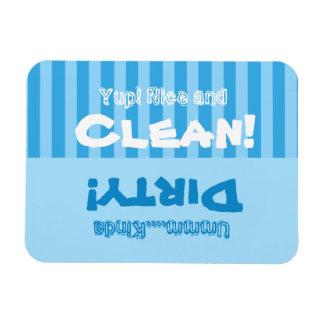 Blaue Streifen säubern oder schmutzige Vinyl Magnete