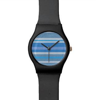 Blaue Streifen Uhr