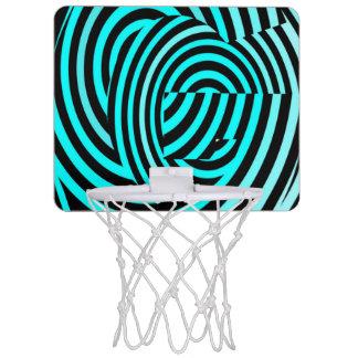 Blaue Streifen-verrücktes Element Mini Basketball Netz