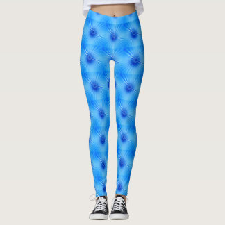 Blaue stripy Gamaschen Leggings