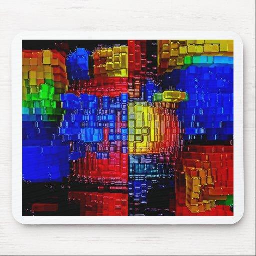 Blaue T - Shirtdrucke der abstrakten Kunstmalereip Mauspads