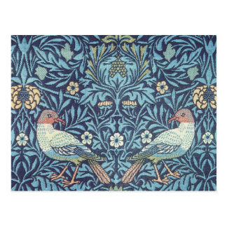 Blaue Tapisserie-Vogel-mit BlumenVintages Williams Postkarte