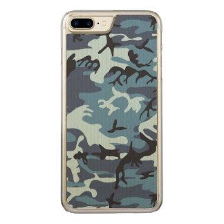 Blaue Tarnung Carved iPhone 8 Plus/7 Plus Hülle