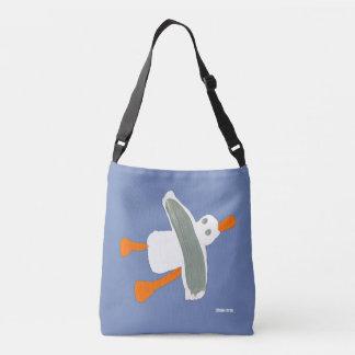 Blaue Tasche der kornischen Küsten-Seemöwe durch